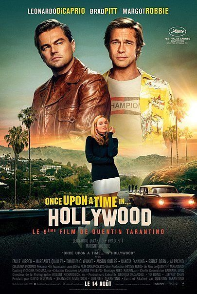 """Movie poster for """"ONCE UPON A TIME... IN HOLLYWOOD"""""""
