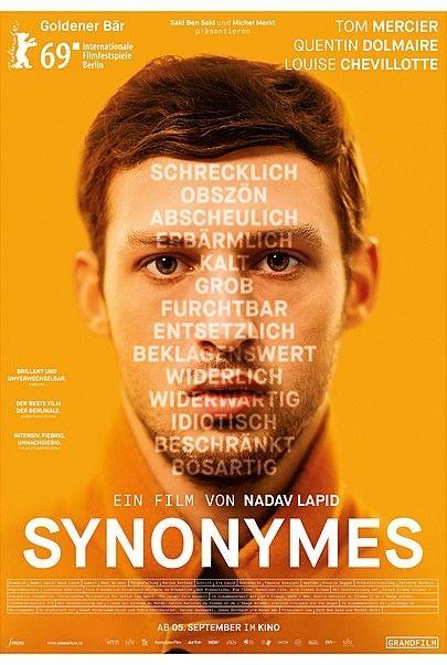 """Filmplakat für """"SYNONYMES"""""""