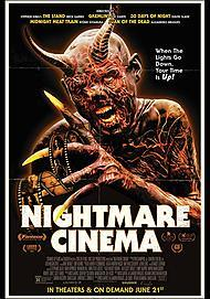 "Movie poster for ""NIGHTMARE CINEMA"""