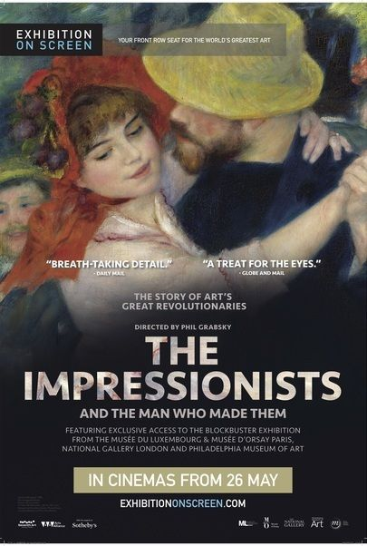 "Movie poster for ""THE IMPRESSIONISTS - Exhibition on Screen"""