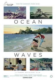 "Movie poster for ""OCEAN WAVES (4K REMASTERED)"""