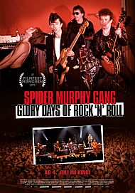 "Movie poster for ""SPIDER MURPHY GANG - GLORY DAYS OF ROCK'N'ROLL"""