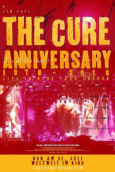 """Filmplakat für """"THE CURE – ANNIVERSARY 1978-2018 - LIVE IN HYDE PARK LONDON"""""""