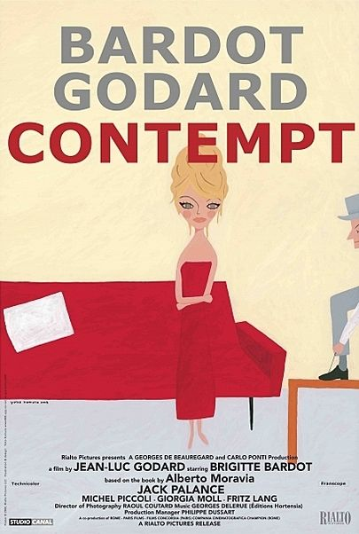 """Movie poster for """"CONTEMPT"""""""