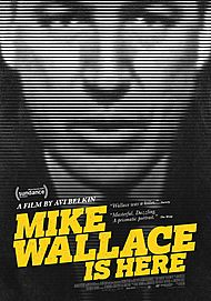 "Movie poster for ""MIKE WALLACE IS HERE"""