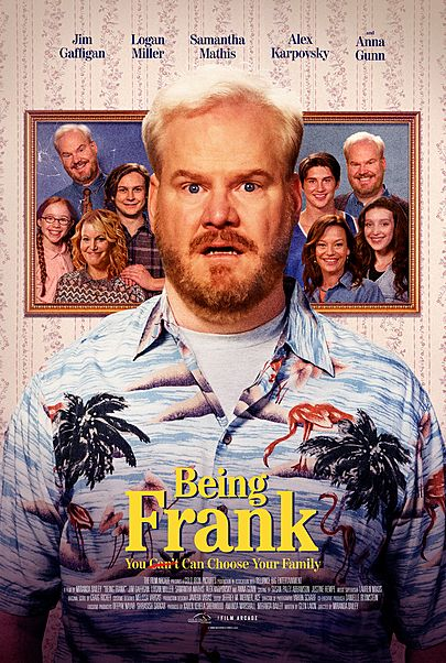 """Movie poster for """"BEING FRANK"""""""