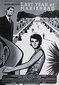 "Movie poster for ""LAST YEAR AT MARIENBAD"""