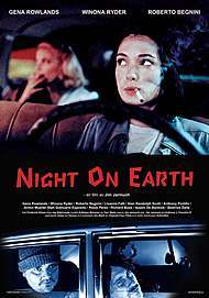 "Movie poster for ""NIGHT ON EARTH"""