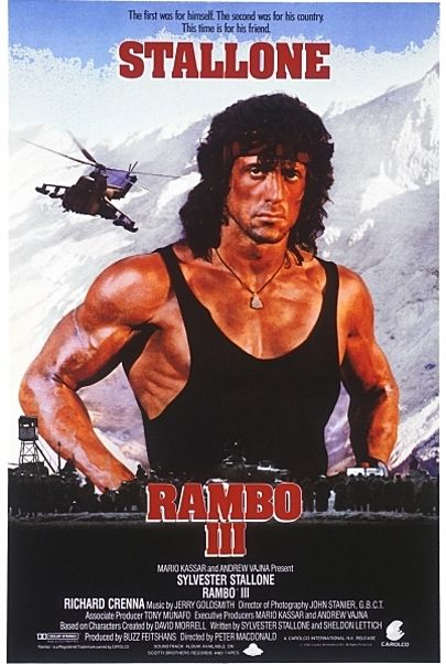 """Movie poster for """"RAMBO III"""""""