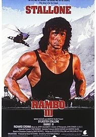 "Movie poster for ""RAMBO III"""