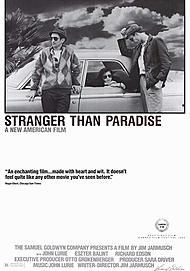 "Movie poster for ""STRANGER THAN PARADISE"""