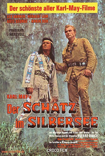 """Filmplakat für """"DER SCHATZ IM SILBERSEE"""""""