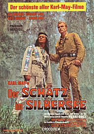 "Movie poster for ""DER SCHATZ IM SILBERSEE"""