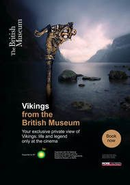 "Movie poster for ""VIKINGS FROM BRITISH MUSEUM"""