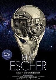 """Filmplakat für """" M. C. Escher - Reise in die Unendlichkeit"""""""