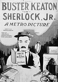 """Movie poster for """"SHERLOCK, JR."""""""