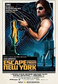 "Movie poster for ""ESCAPE FROM NEW YORK"""