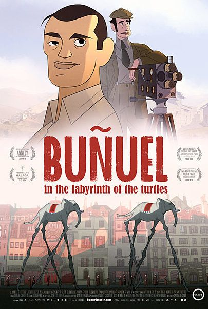 "Movie poster for ""BUÑUEL IN THE LABRYTINTH OF THE TURTLES  """