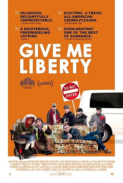 "Movie poster for ""GIVE ME LIBERTY"""