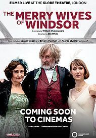 "Movie poster for ""THE MERRY WIVES OF WINDSOR - GLOBE THEATRE"""