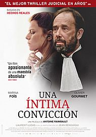 "Movie poster for ""UNE INTIME CONVICTION"""