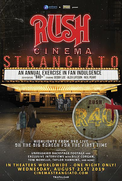 "Movie poster for ""RUSH: CINEMA STRANGIATO"""