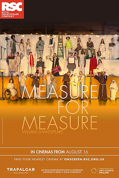 "Movie poster for ""MEASURE FOR MEASURE (ROYAL SHAKESPEARE COMPANY)"""