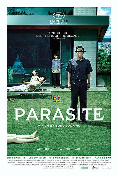 "Movie poster for ""PARASITE"""