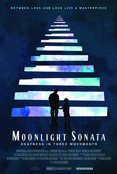 "Movie poster for ""MOONLIGHT SONATA: DEAFNESS IN THREE MOVEMENTS"""
