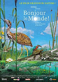 "Movie poster for ""BONJOUR LE MONDE!"""