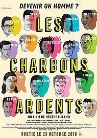 "Movie poster for ""LES CHARBONS ARDENTS"""