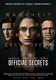 "Movie poster for ""OFFICIAL SECRETS"""