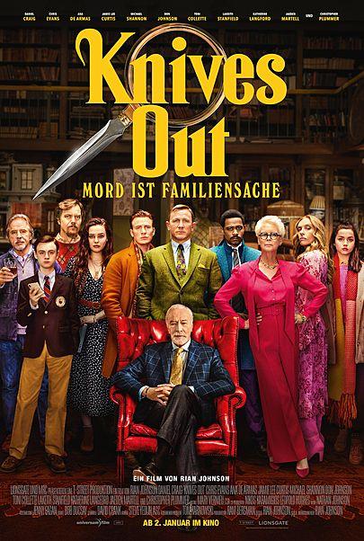 "Filmplakat für ""KNIVES OUT - MORD IST FAMILIENSACHE"""