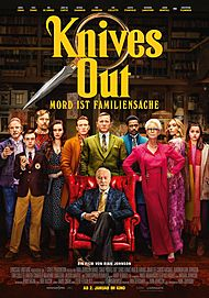 "Movie poster for ""KNIVES OUT"""