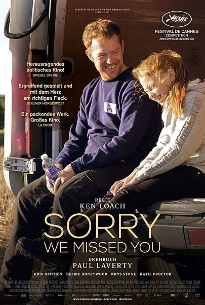 "Movie poster for ""SORRY WE MISSED YOU"""
