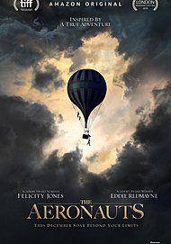 "Movie poster for ""THE AERONAUTS"""