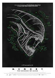 "Movie poster for ""MEMORY: THE ORIGINS OF ALIEN"""