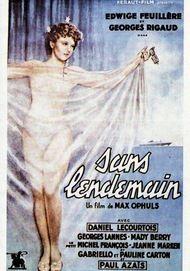 """Movie poster for """"SANS LENDEMAIN"""""""