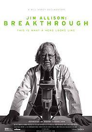 """Movie poster for """"JIM ALLISON: BREAKTHROUGH"""""""