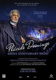 "Movie poster for ""PLACIDO DOMINGO 50 : ARENA ANNIVERSARY NIGHT"""