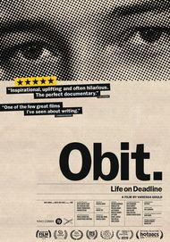 "Movie poster for ""OBIT"""