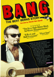 "Movie poster for ""BANG: THE BERT BERNS STORY"""