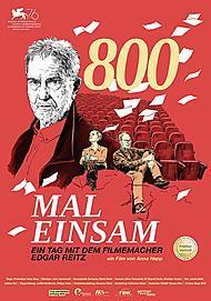"""Filmplakat für """"800 MAL EINSAM - EIN TAG MIT DEM FILMEMACHER EDGAR REITZ"""""""