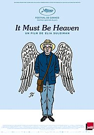"""Movie poster for """"IT MUST BE HEAVEN"""""""