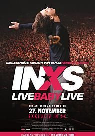 "Movie poster for ""INXS: LIVE BABY LIVE"""