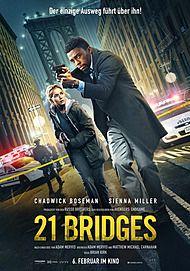 """Filmplakat für """"21 BRIDGES"""""""
