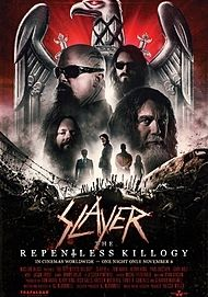 "Movie poster for ""SLAYER: THE REPENTLESS KILLOGY"""