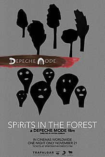 "Movie poster for ""DEPECHE MODE: SPIRITS IN THE FOREST"""
