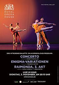 "Movie poster for ""CONCERTO / ENIGMA VARIATIONS / RAYMONDA ACT III - ROYAL OPERA HOUSE 2019/20"""