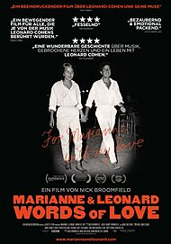 """Movie poster for """"MARIANNE & LEONARD: WORDS OF LOVE"""""""